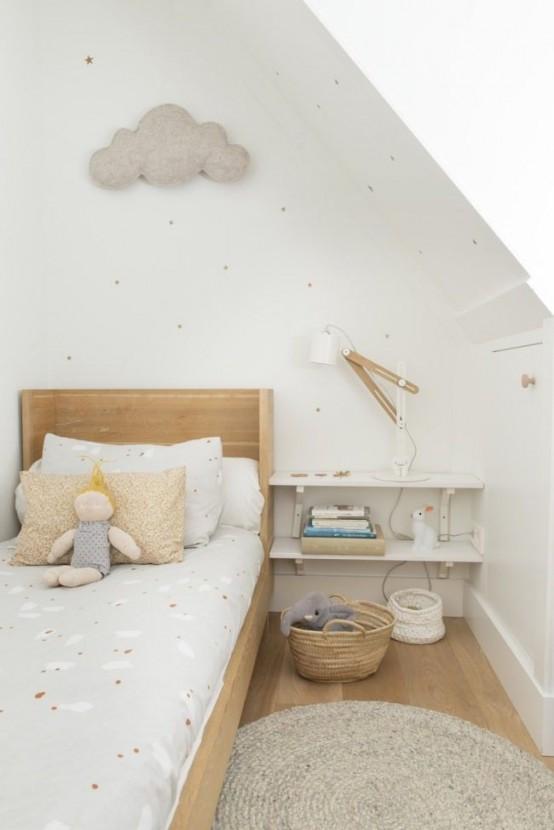 Pokój Dziecięcy W Stylu Skandynawskim - Oryginalne dekoracje Ścienne dodają wnętrzu przytulności