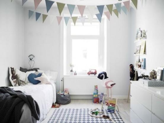 Pokój Dziecięcy W Stylu Skandynawskim - Kolorowe zabawki na czystym i jasnym tle