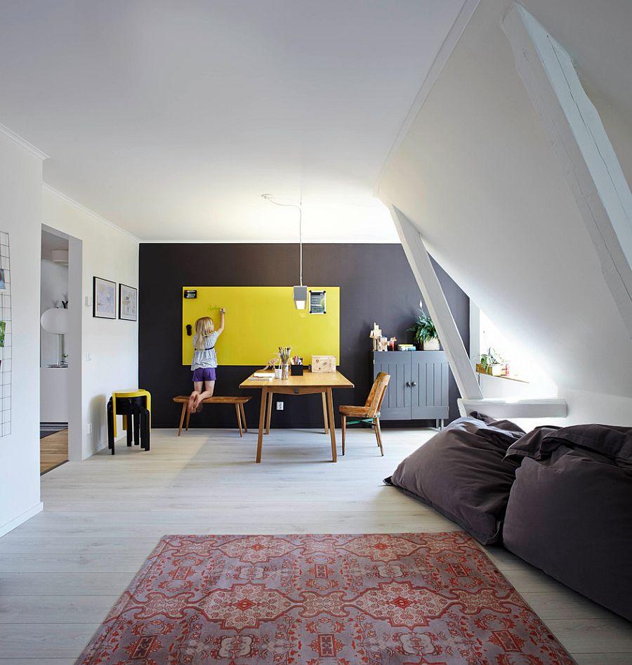 biel i przestrzeń - miejsce do pracy styl skandynawski