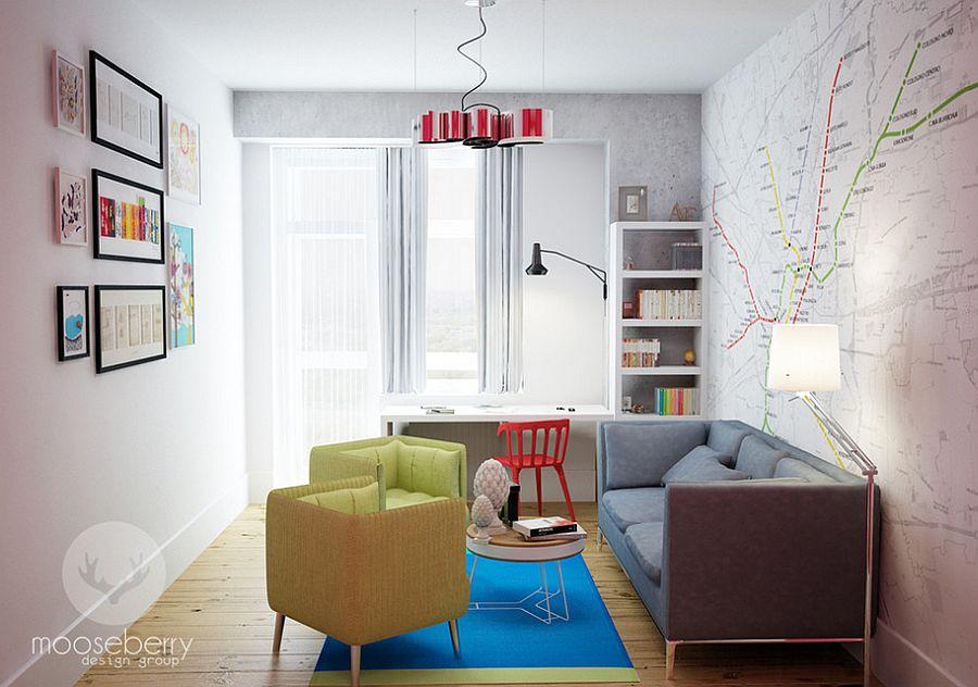 domowe biuro - miejsce do pracy w stylu skandynawskim