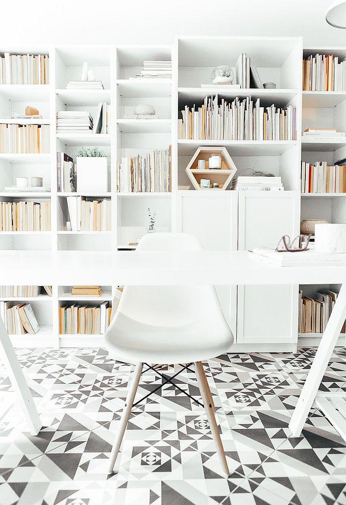 jeszcze więcej bieli - domowy gabinet w stylu skandynawskim