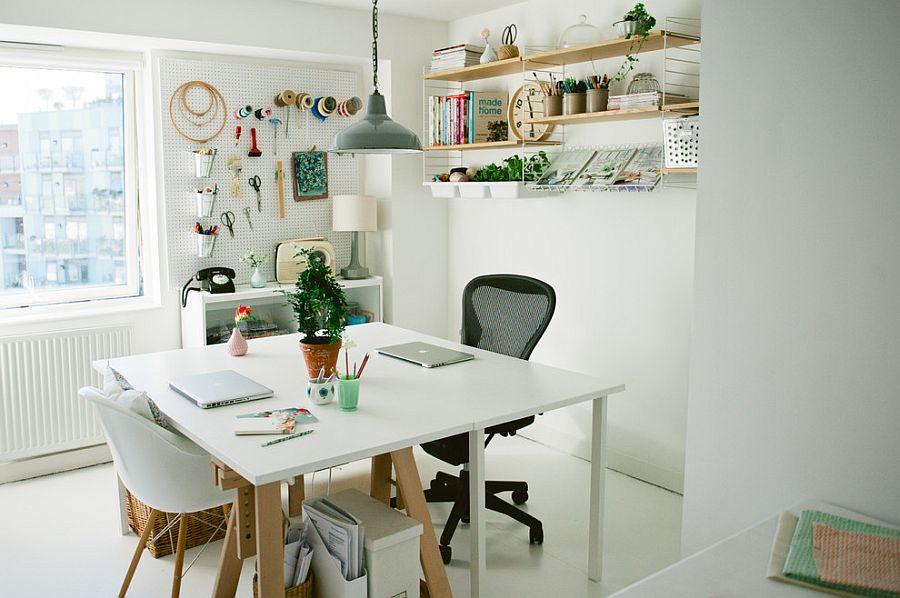 inspirujące miejsce do pracy w stylu skandynawskim