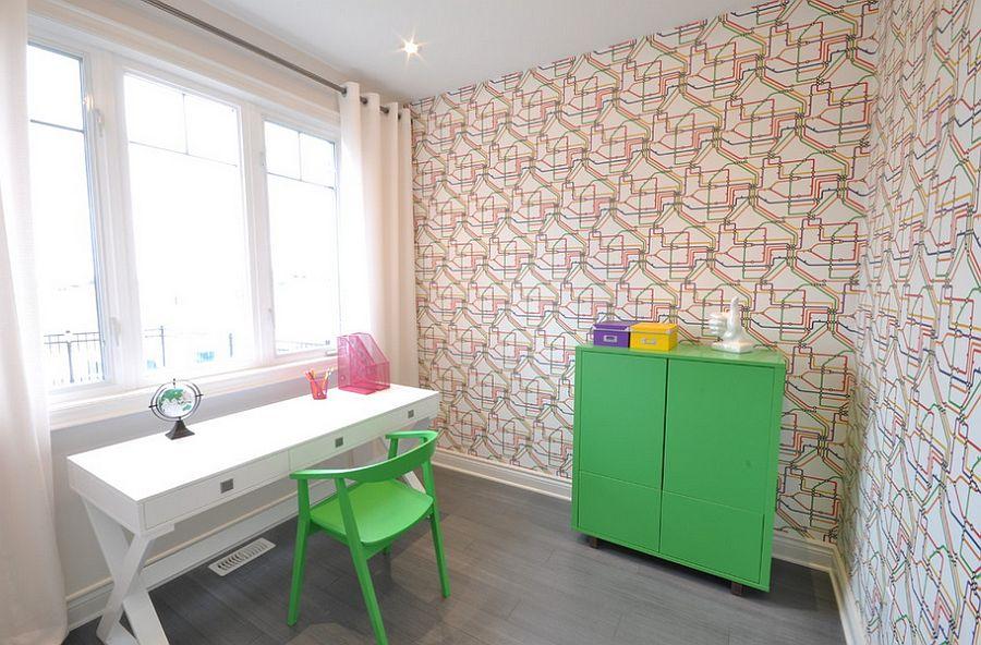 stylowe biurko - domowy gabinet w stylu skandynawskim