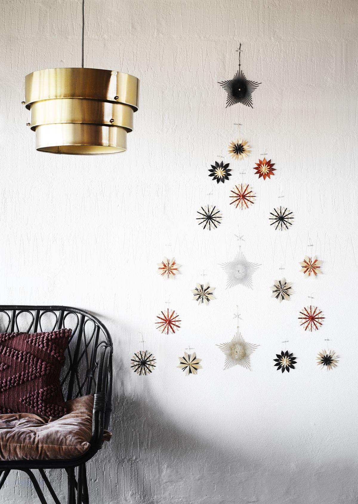 Ozdoby świąteczne - kompozycja w kształcie choinki - Madam Stoltz