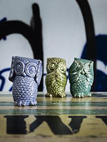 Ceramiczne sowy Nordal