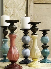 ceramika metal świeczniki Nordal