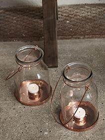 Latarnie z grubego szkła Hubsch
