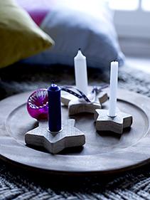 gwiazdkowe świeczniki drewniane Bloomingville