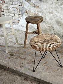 naturalne stołki Hubsch