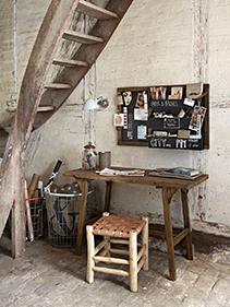 Biurko stołek pokój Hubsch