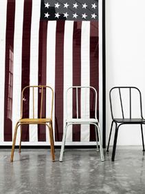 kolorowe krzesła Nordal