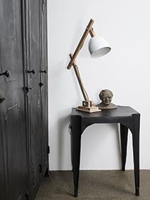 drewno lampka metal Madam Stoltz