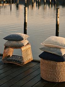 Siedziska, poduszki naturalne Hubsch
