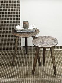 Stołki drewniane łazienka Nordal