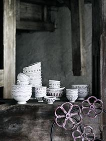 zdobiona ceramika deserowa Nordal